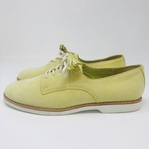 Coach lace up oxfords with tassels green Size 6.5